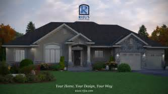 Home Plans Ontario by Custom Home House Plans House Plans Patio Home Bungalow