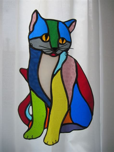 stained glass cat l 1811 best stained glass pets images on pinterest