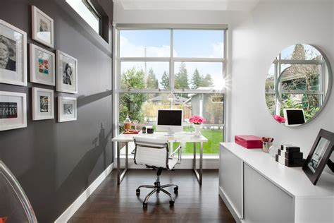 office accent wall office accent wall ideas home office modern with gray wall