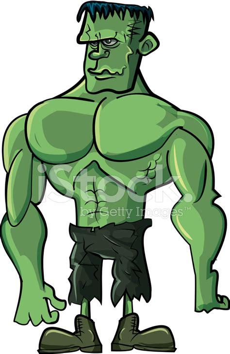 Home Gym Design Download by Cartoon Green Frankenstein Bodybuilder Monster Stock