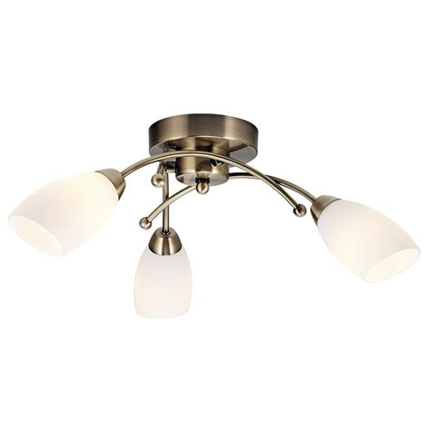 Brass Ceiling Lights Modern Contemporary 3 Arm Antique Brass Ceiling Light Fitting Haysoms
