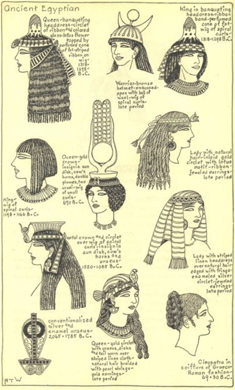 information on egyptain hairstlyes for and different hat styles of the ancient egyptians on behance