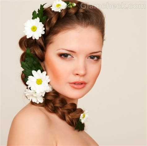 hairstyles with flowers flower hairstyles