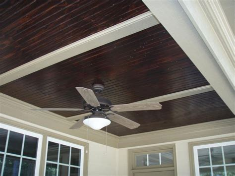 b board ceiling stained beadboard ceiling for front porch outdoors front porches and ceilings
