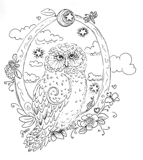 coloring pages for adults owl owl coloring pages for adults free detailed owl coloring