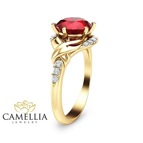 Ruby 9 2ct 2ct ruby engagement ring 14k yellow gold engagement ring