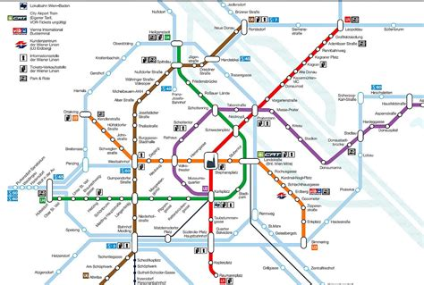 vienna map vienna metro system and metro map for travellers