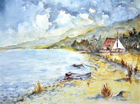 watercolor painting clifden coast connemara ireland watercolor painting 28