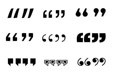 quotation mark vector   vectors