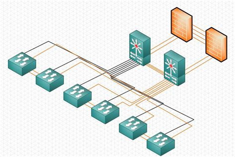 visio isometric isometric network diagram clipart best
