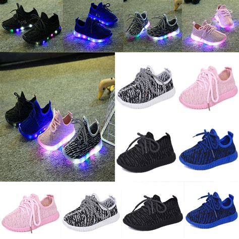 ebay light up shoes new children kids boys girls luminous sneakers running