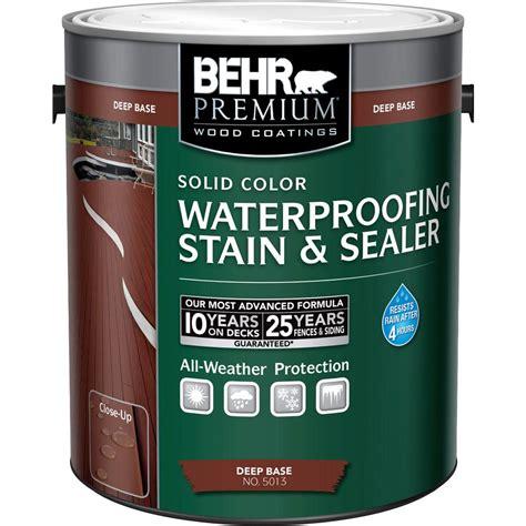 behr premium  gal deep base solid color waterproofing