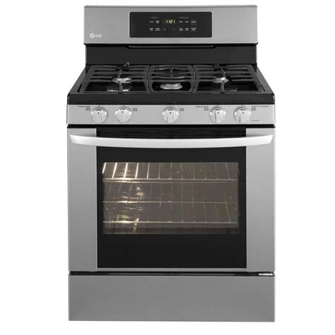 lg electronics 5 4 cu ft gas range with self cleaning in