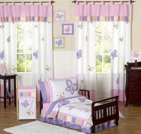 purple toddler bedroom pink and purple butterfly toddler bedding 5pc set only