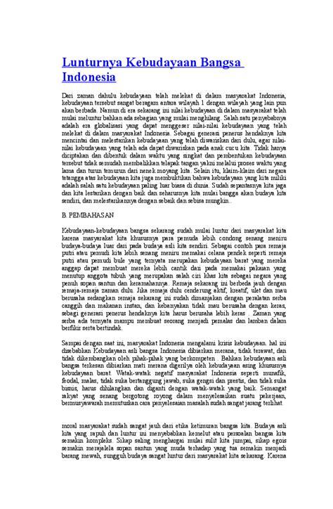 Teks Non Fiksi Tentang Budaya Indonesia - Berbagai Teks