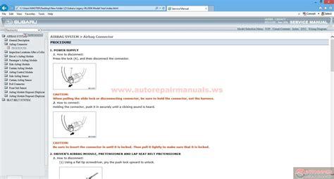 Subaru Legacy 06 2006 Model Year Auto Repair Manual