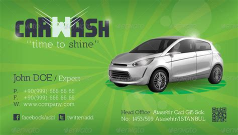 car cleaning business card template car wash business card template by grafilker graphicriver