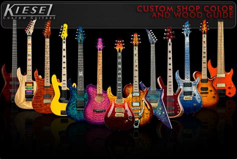 guitar colors custom guitar bass color and wood guide kieselguitars