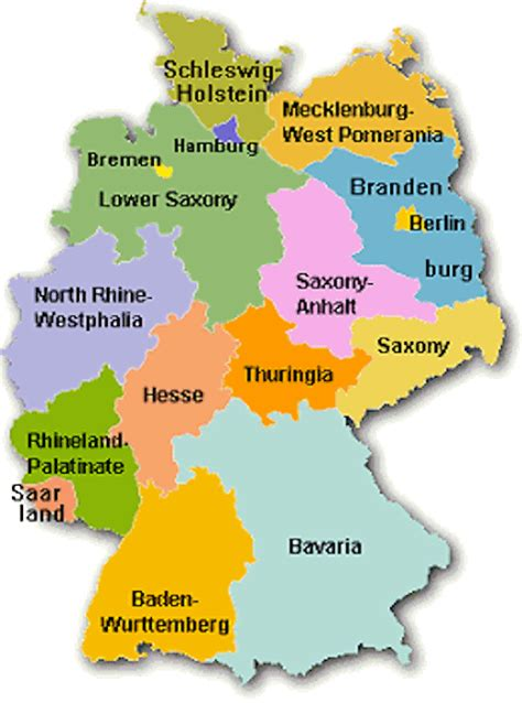state map of germany jen german110
