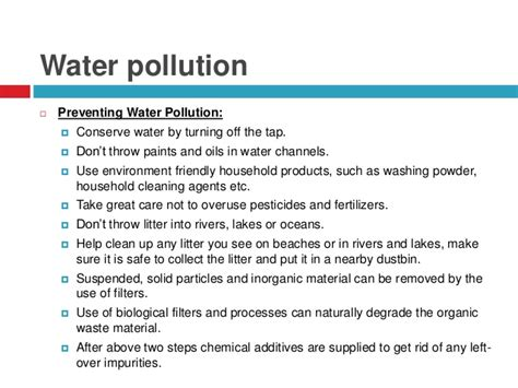 How To Prevent Water Pollution Essay by Environment Environmental Pollution Causes Effects Privents