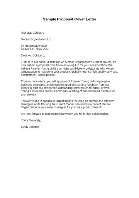 gallery project proposal letter sle