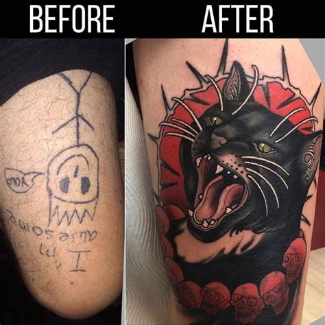 tattoo parlor binghamton ny cat cover up by heathclifford at throneroomtattoo in