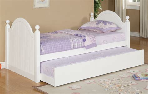 Cottage Style Beds by Size Pottery White Cottage Style Solid Wood Bed Trundle
