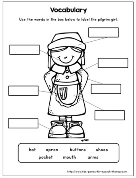 Speech Therapy Worksheets For Preschoolers by Thanksgiving Craftivity For Speech Language Therapy