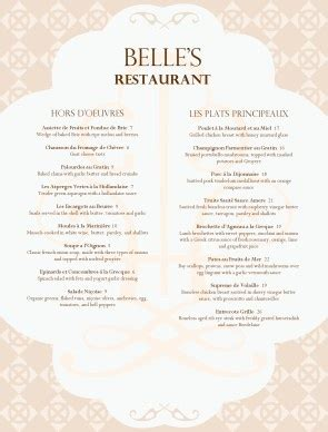 a french menu template church ideas umw events
