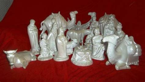 vintage ceramic nativity set ebay