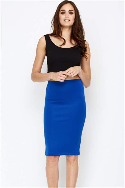 maxou royal blue pencil skirt just 163 5