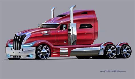 concept semi truck peterbilt concept truck futuristic air land sea
