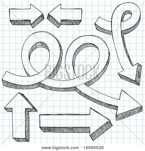 design elements direction hand drawn sketchy 3d direction vector photo bigstock