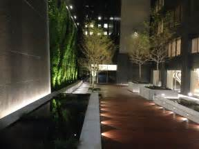 Commercial Landscape Lighting by Sponzilli Completes Landscaping And New Green Wall At Tiaa