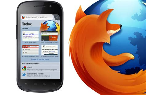 firefox android firefox 14 beta android browser released with new user interface and flash support