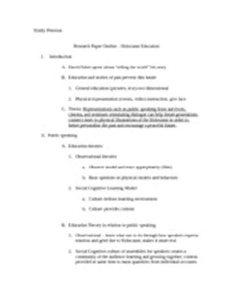 research paper on the holocaust holocaust research paper outline emily peterson research
