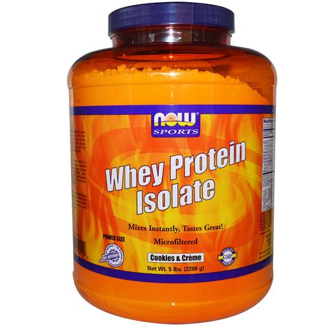 Now Whey Protein Isolate now foods whey protein isolate cookies creme 5 lbs
