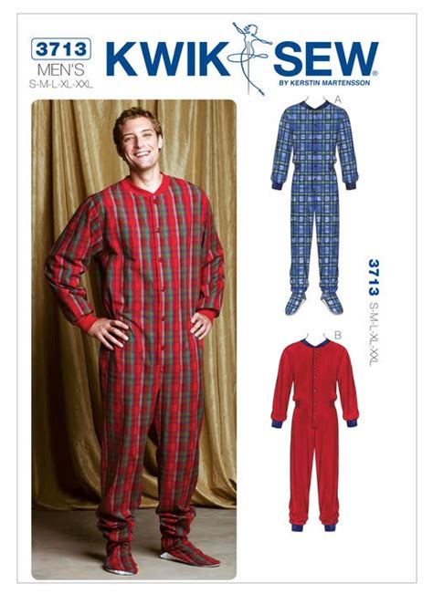 pattern paper lincraft kwik sew pattern 3713 mens onsie patterns lincraft