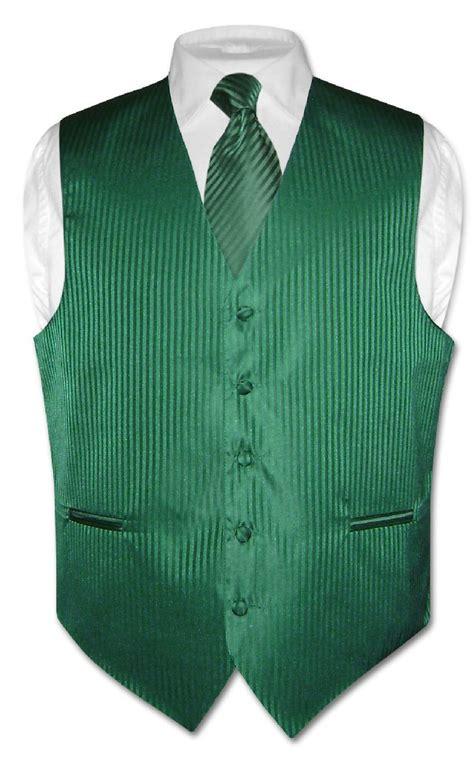Green Vest s dress vest necktie emerald green color vertical stripe design neck tie set ebay