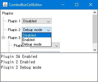 java swing guide java swing tips use jcombobox as jtree s node cell editor