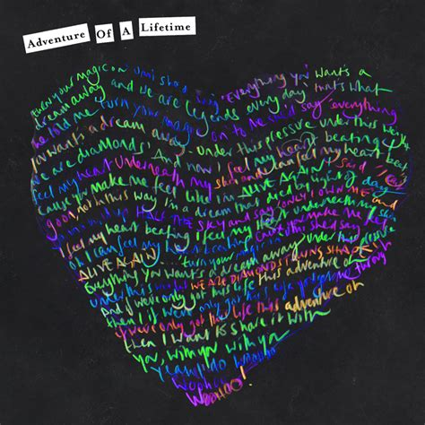 coldplay testo adventure of a lifetime lyrics coldplay