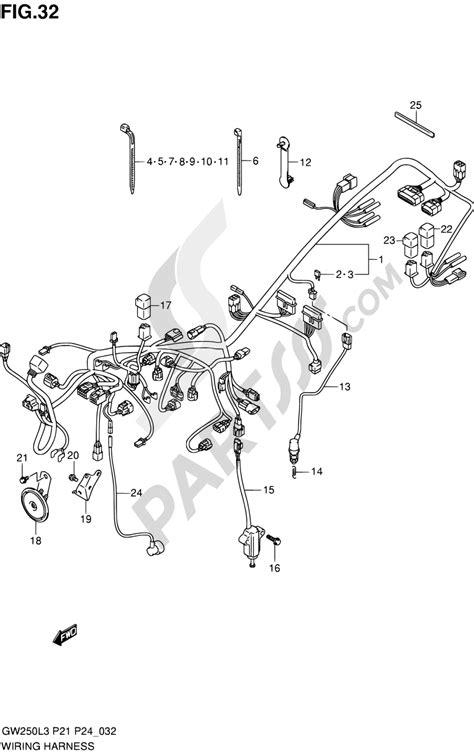 32 - WIRING HARNESS (GW250L3 P21) Suzuki INAZUMA GW250 2013