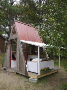 small a frame house plans relaxshacks a frame treehouse tiny house shed office