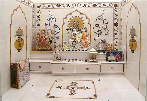 decorate mandir at home inlay designs italian marble for pooja room walls google