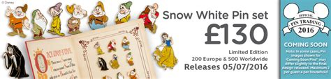 Cp White Big Tsum snow white pin set coming soon diskingdom disney