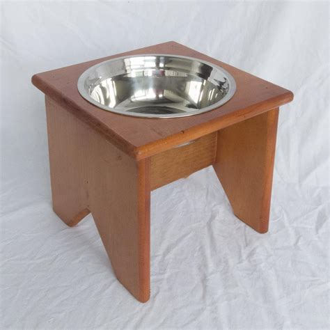 wooden bowl stand elevated bowl stand wooden 1 bowl 250 mm 10