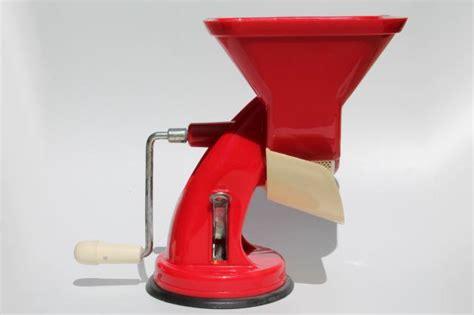 Retro Kitchen Furniture retro red plastic hand crank tomato sauce squeezo strainer