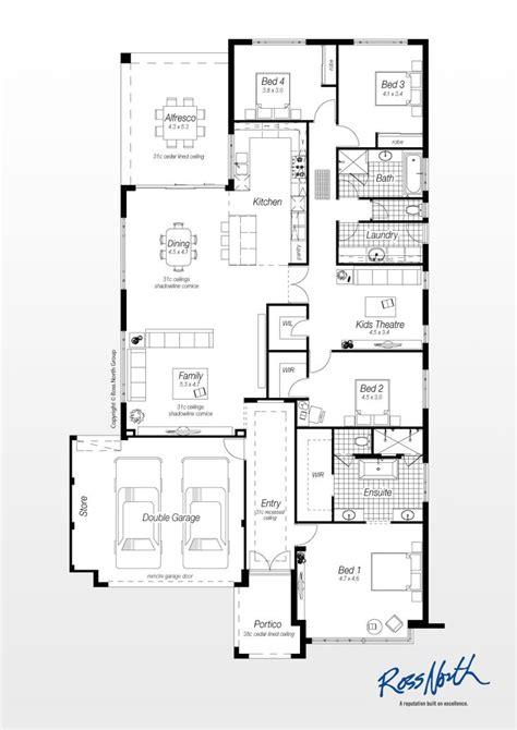 villa floor plans australia modern house plans plan single