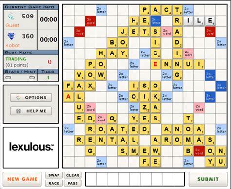 scrabble lexulous word score scrabulous returns as lexulous npr