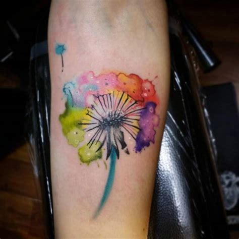 watercolor dandelion tattoo 50 devastatingly delightful dandelion tattoos tattooblend
